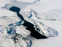 воздушный канадский темный взгляд озера Стоковая Фотография
