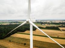 Воздушный конец-вверх турбины ветрянки Стоковое Фото