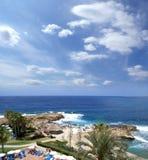 воздушный красивейший взгляд острова Кипра Стоковая Фотография RF