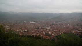 Воздушный панорамный взгляд к Cuzco, Перу Стоковое Изображение