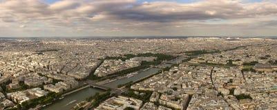 воздушный панорамный взгляд перемета реки paris Стоковые Изображения RF
