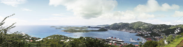 воздушный панорамный взгляд Стоковое Фото