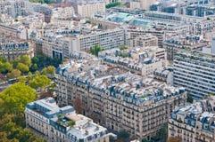 воздушный панорамный взгляд paris Стоковое фото RF