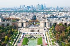 воздушный панорамный взгляд paris Стоковые Фото