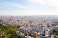 воздушный панорамный взгляд paris Стоковые Изображения RF