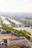 воздушный панорамный взгляд paris Стоковые Изображения
