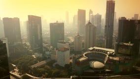Воздушный пейзаж центрального финансового района Semanggi видеоматериал