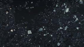 Воздушный полет над приполюсным океаном льда антенны акции видеоматериалы