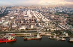 Воздушный порт доставки на рафинадном заводе Стоковое Фото