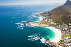 воздушный прибрежный взгляд стоковое изображение rf