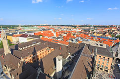 воздушный разбивочный взгляд munich города Стоковое Изображение RF