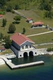 воздушный сбор винограда взгляда boathouse Стоковая Фотография