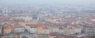 воздушный центральный взгляд Франции lyon Стоковое Изображение RF