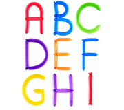 воздушный шар алфавита полный стоковое изображение rf