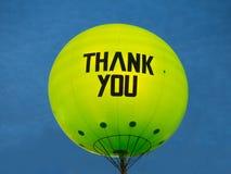 воздушный шар благодарит вас Стоковое Фото