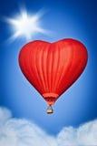 Воздушный шар влюбленности Стоковое фото RF