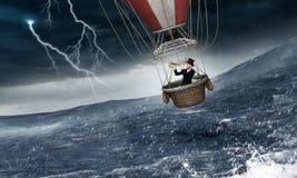 Воздушный шар в шторме Стоковое фото RF