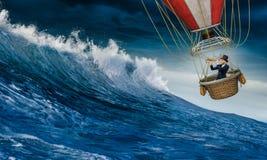 Воздушный шар в шторме Стоковая Фотография RF