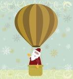 воздушный шар горячий santa Стоковые Изображения RF