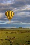 воздушный шар над саванной Стоковые Изображения RF