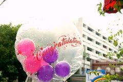 Воздушный шар поздравлению Стоковое Фото
