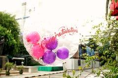 Воздушный шар поздравлению Стоковое Изображение RF
