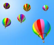 воздушный шар цветастый иллюстрация вектора