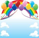 воздушный шар 2 предпосылок Стоковая Фотография RF