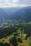 воздушный chartreuse взгляд долины Стоковая Фотография