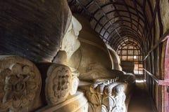 Возлежа Будда - Bagan Мьянма Стоковое Изображение RF