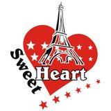 Возлюбленн Парижа бесплатная иллюстрация