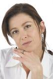 возмужалая женщина портрета Стоковая Фотография RF