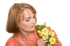 возмужалая заботливая женщина стоковое изображение rf