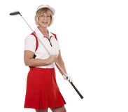 Возмужалый игрок в гольф стоковая фотография