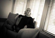 Черное женское бельё Стоковые Фото