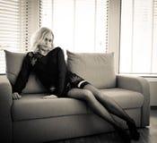 Черное женское бельё Стоковое Изображение RF