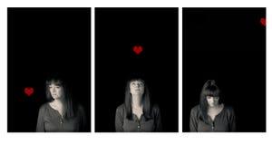 возмужалая женщина портрета Рассказ влюбленности и потери стоковое фото rf