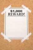 вознаграждение плаката стоковое фото