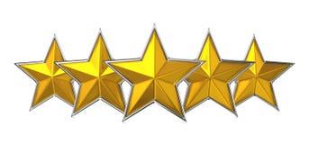 Вознаграждение Cocept 5 звезд. Стоковое Фото