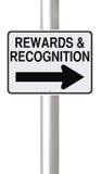 Вознаграждения и опознавание стоковое фото rf
