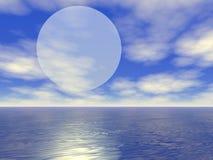 возникая большая луна Стоковая Фотография