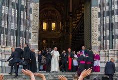 Возникновение официального представителя Папы Фрэнсиса римско-католической церков Стоковая Фотография