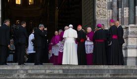 Возникновение официального представителя Папы Фрэнсиса римско-католической церков Стоковое Изображение