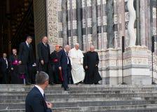 Возникновение официального представителя Папы Фрэнсиса римско-католической церков Стоковое Фото