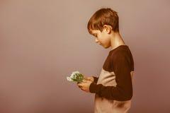Возникновение подростка мальчика европейское 10 лет Стоковое Изображение RF