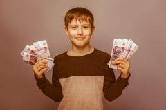 Возникновение подростка мальчика европейское 10 лет Стоковое фото RF