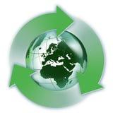 Возобновляющая энергия в Европе Стоковое Изображение RF
