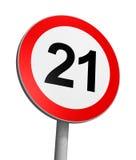 возрастное ограничение 21 сверх Стоковые Изображения