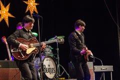 Возрождение Beatles выполняя на 23rd -го декабрь стоковое изображение rf