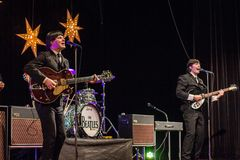 Возрождение Beatles выполняя на 23rd -го декабрь стоковые изображения rf